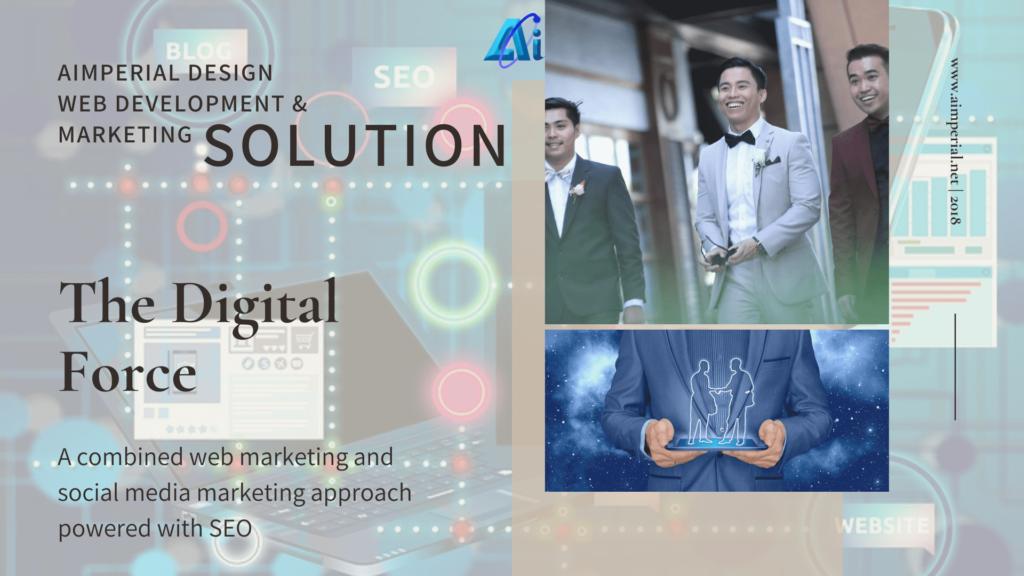 website, social media marketing, seo and analytics